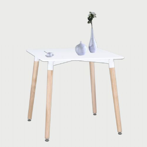 Aspen Square White Painted Table With Wooden Legs
